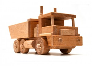 isolated wooden truck